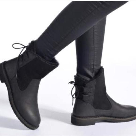 edb3f144c88 Ugg Naiyah Black Nubuck Leather Boot